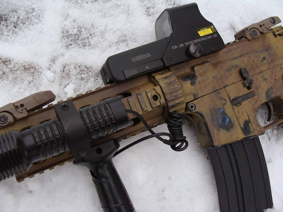 painting airsoft replica - snakeskin look 2