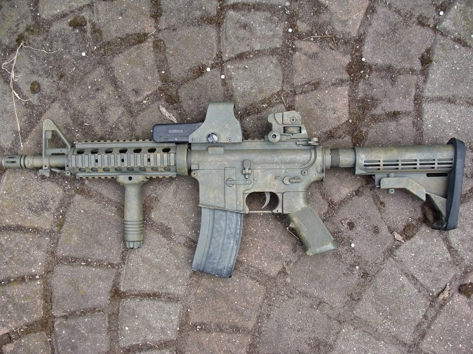 painting airsoft replica - sponging
