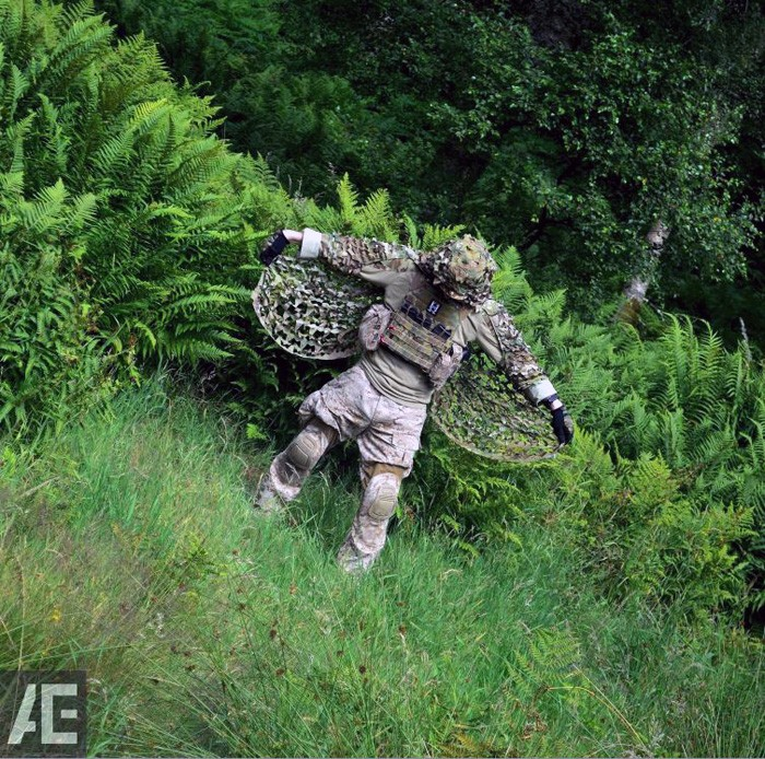 kamuflaż ASG - ghillie suit