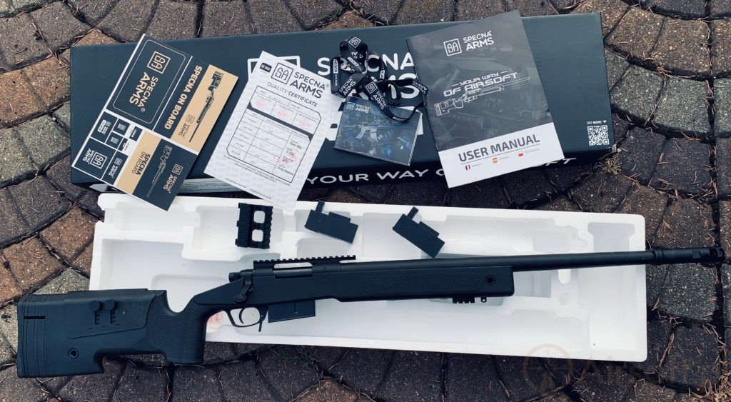 unboxing of the Specna Arms sniper rifle replica