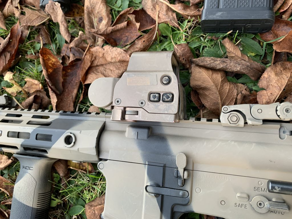 red dot sight on the airsoft replica