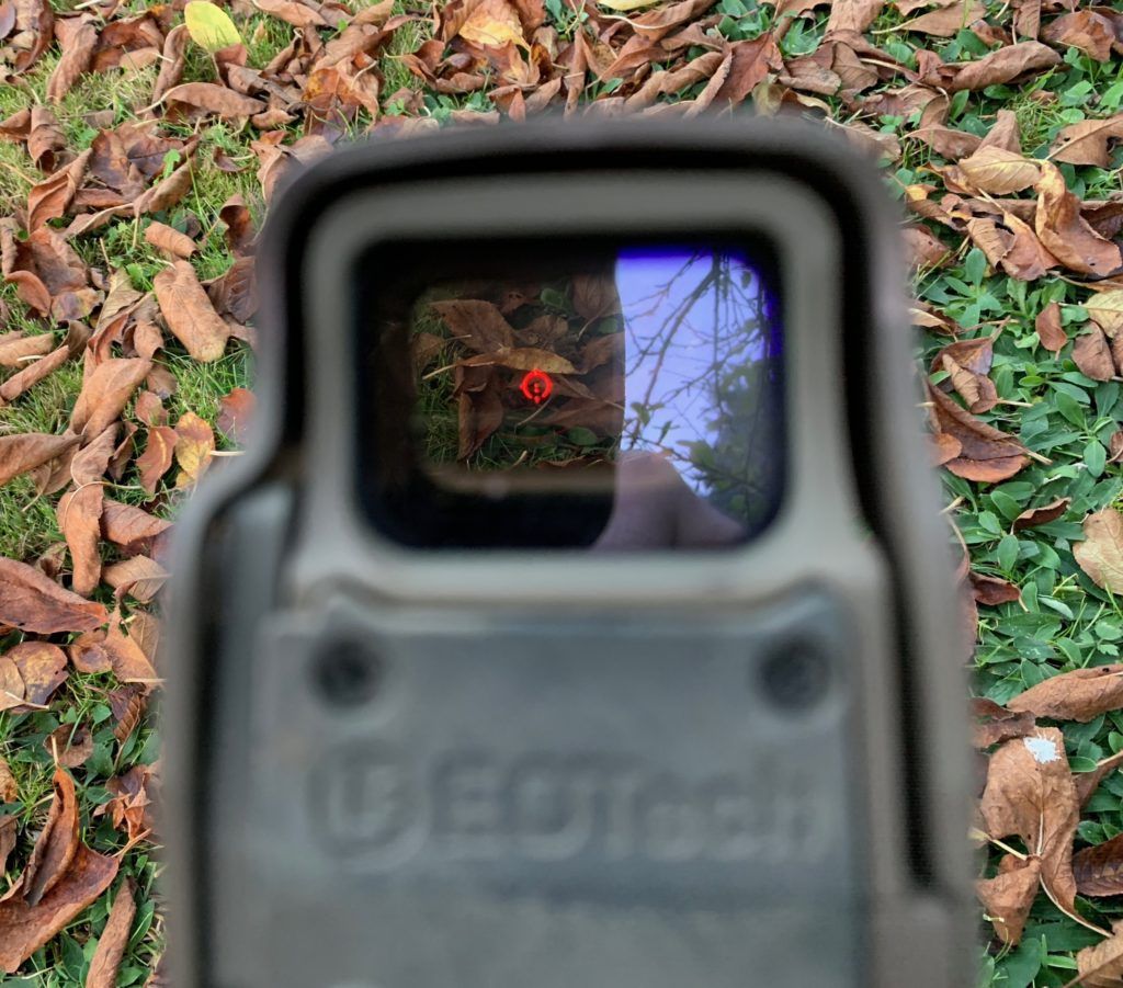 reticle of the collimator sight