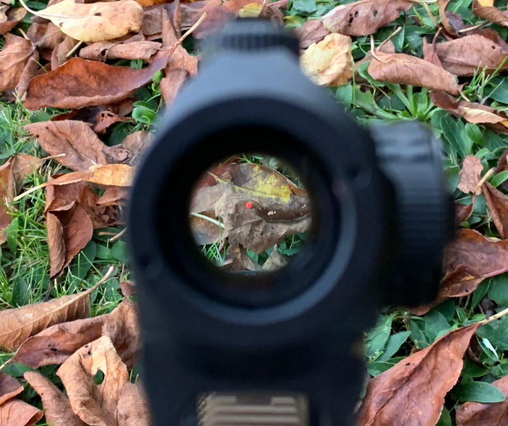reticle of the sight